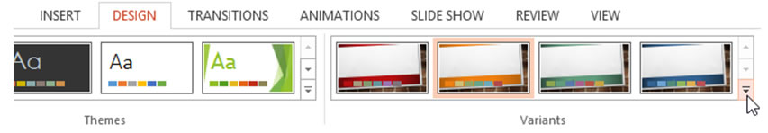 What additional theme effects are available in PowerPoint 2013?