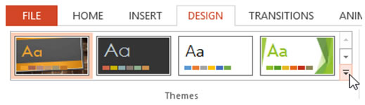 How a new custom PowerPoint theme should be saved?