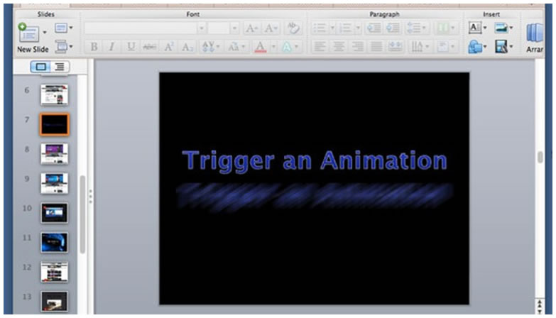 Custom Animation Trigger in PowerPoint 2013