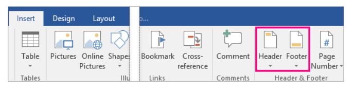 MS Office Word 2013-2016 – Adding Pictures To Footer And Header